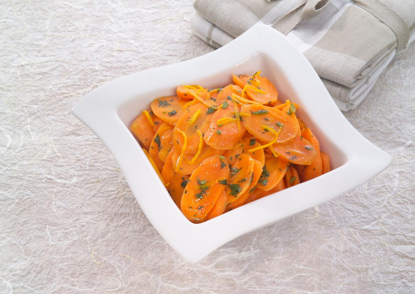 Carrots with lemon and coriander