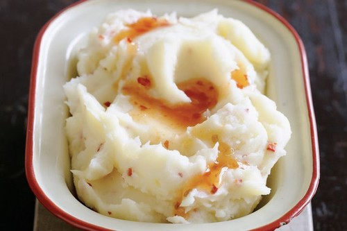 Chilli and garlic potato mash