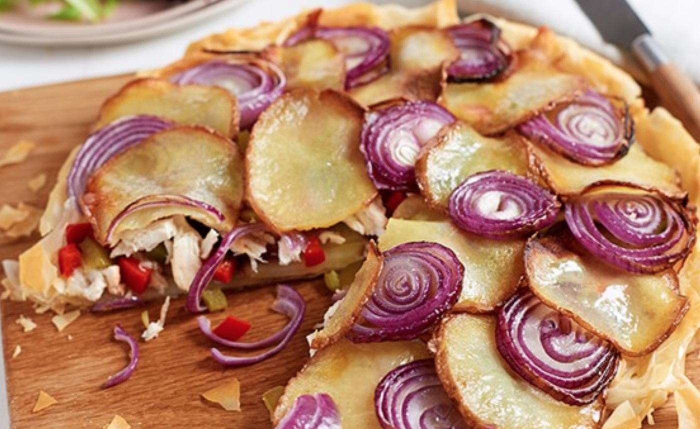 Potato, Red Onion & Chicken Gallete Pie
