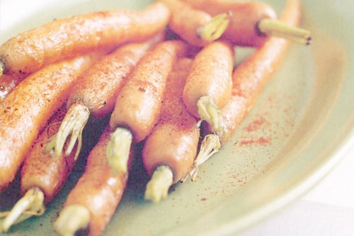 Buttered paprika carrots
