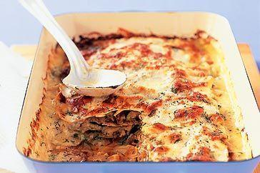 Caramelised onion and zucchini lasagne